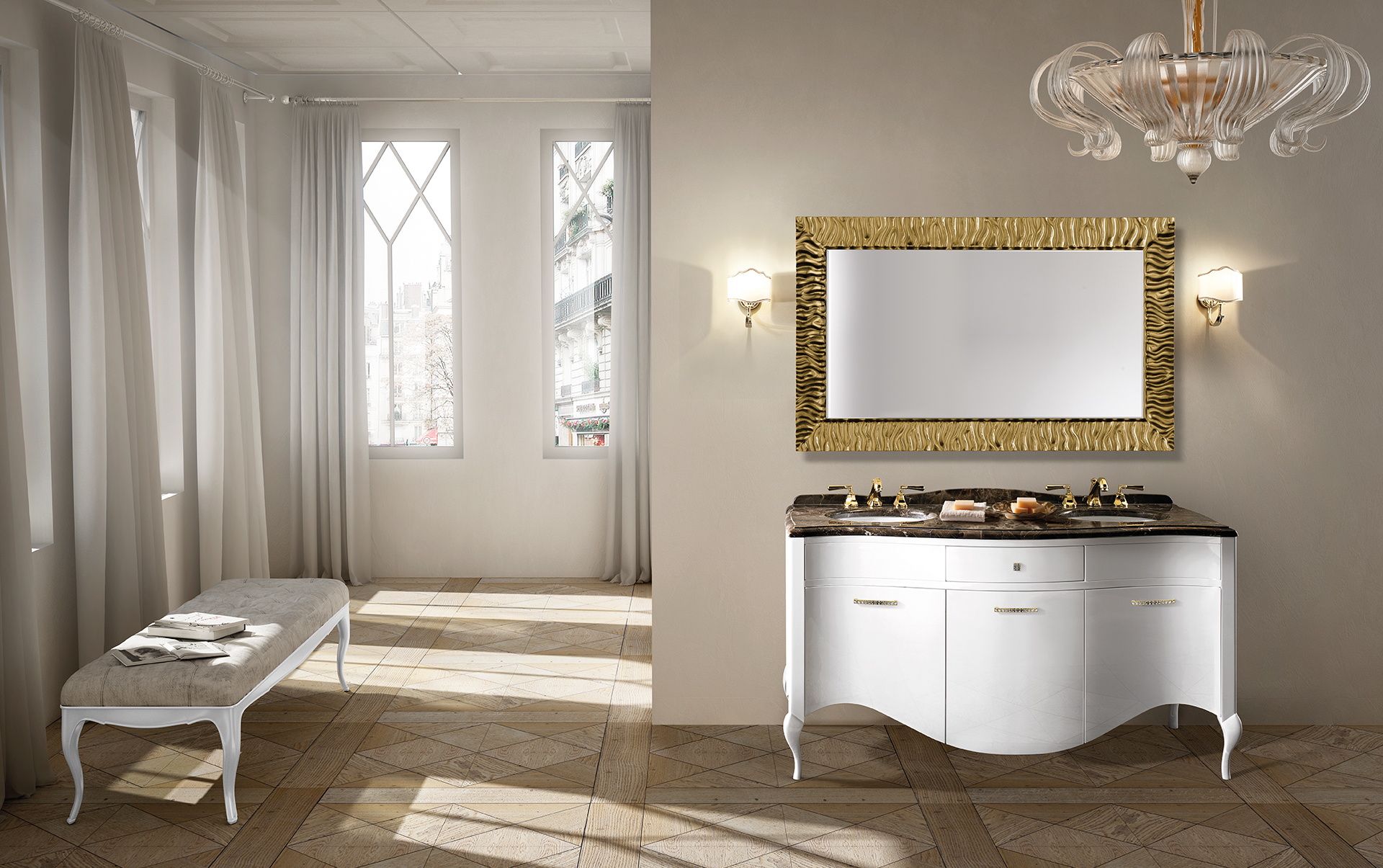 Classic and traditional european bathroom vanities in kitchen and ...