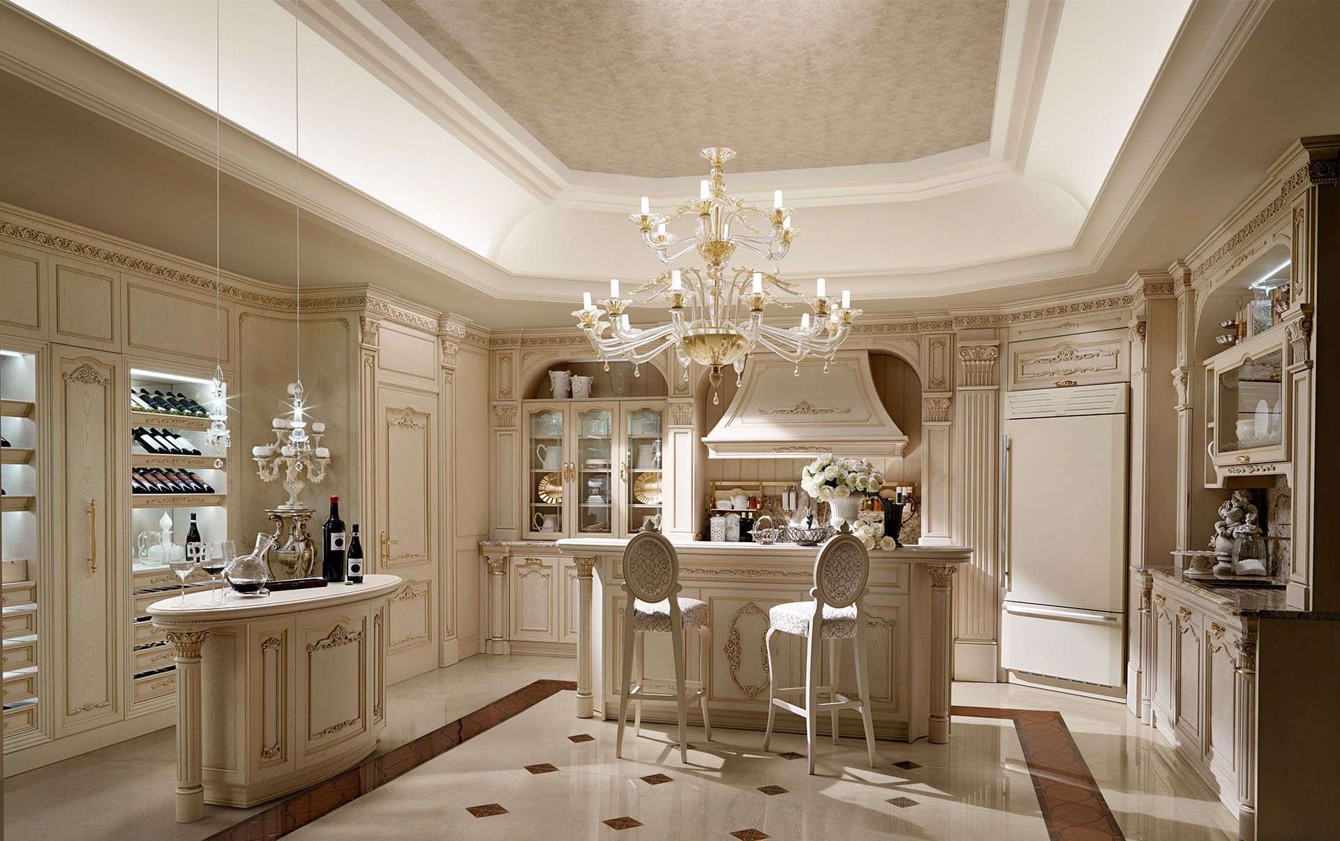 Classic Luxury Kitchen luxury italian custom made solid wood kitchen cabinets | exclusive