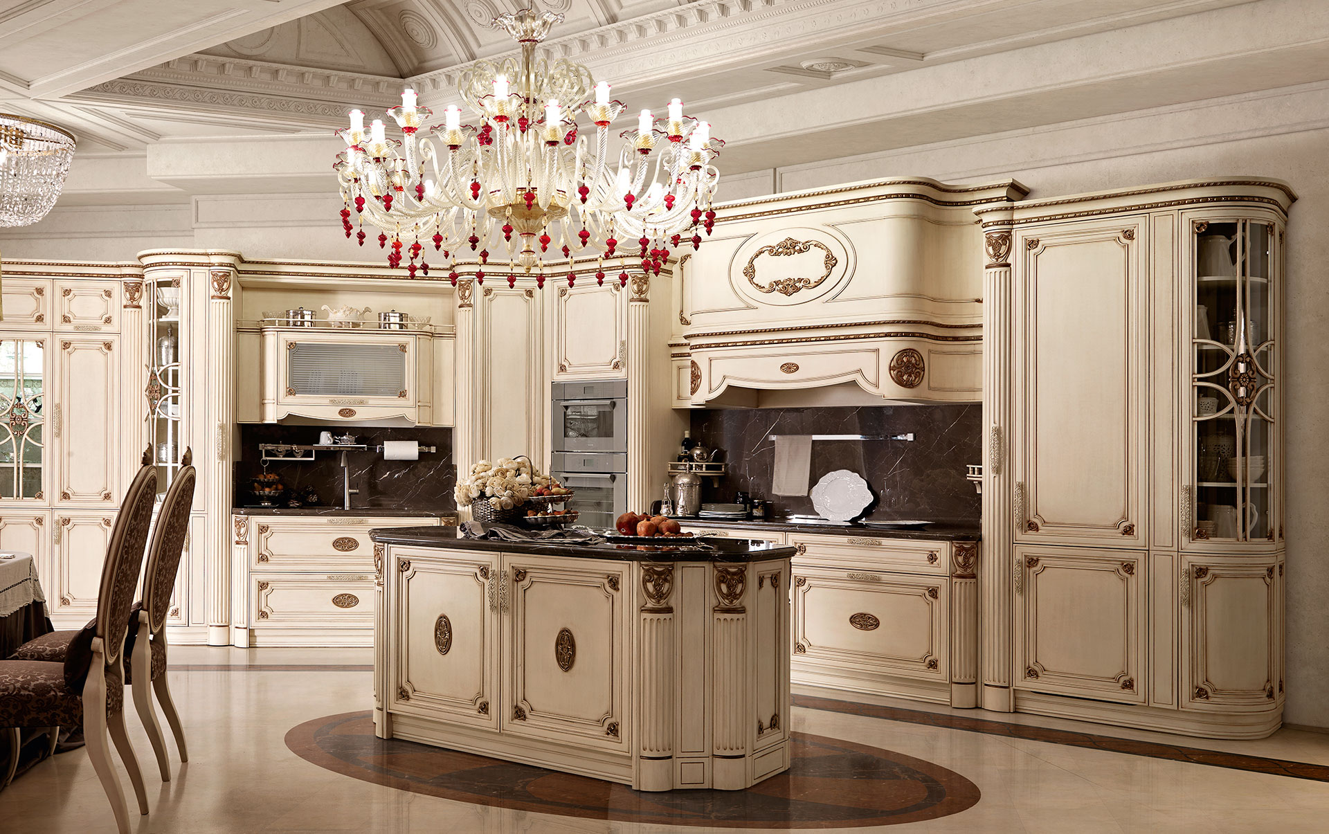 Classic Luxury Kitchen Luxury Italian Custom Made Solid Wood Kitchen Cabinets  Exclusive